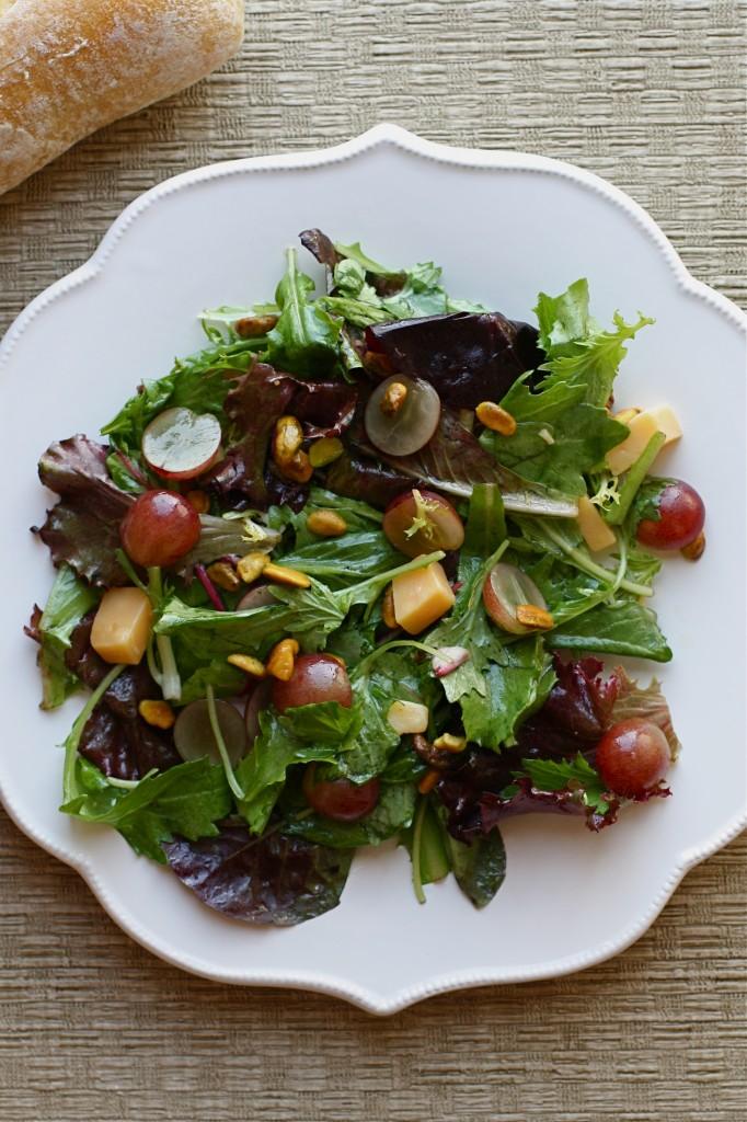Grape Gouda Pistachio Salad Honey Vinaigrette