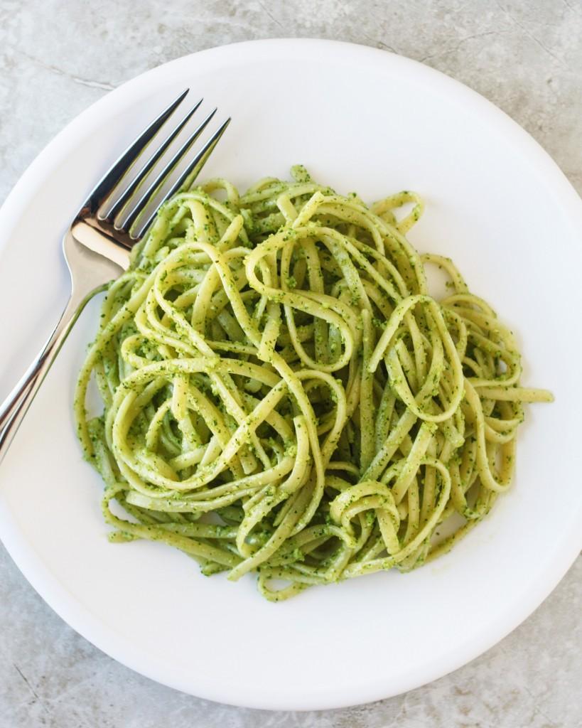 Linguine with Spinach Pesto