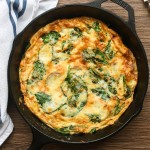 Potato, Cheddar and Spinach Frittata
